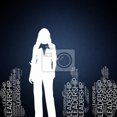 Bild Leadership - Konzepte Wallpaper mit Frau Silhouette
