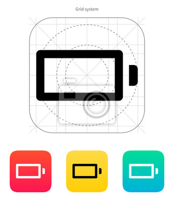 Leere Batterie aufladen Symbol. Vektor-Illustration.