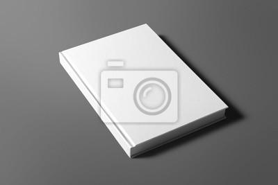 Bild Leere Buch auf grau isoliert, um Ihr Design zu ersetzen