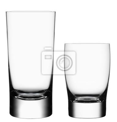 Bild Leere Cocktailgläser auf weißem Hintergrund mit clippin