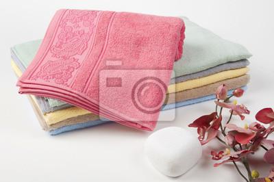 leere Cover-Design von Handtuch