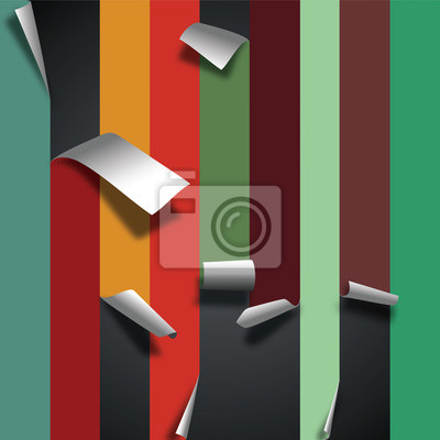 Leere farbigen Papier Seite curl Blatt