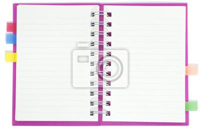 Bild leere Notebook rosa Deckel