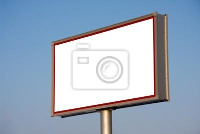 Bild Leere Plakatwand auf blauen Himmel für Ihre Werbung