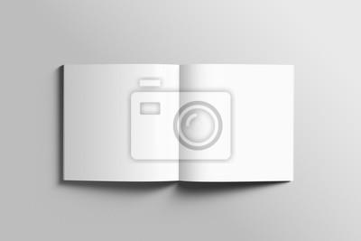 Bild Leere quadratische photorealistische Broschüre Mockup auf hellgrauem Hintergrund.