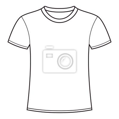 Leere weiße t-shirt-vorlage leinwandbilder • bilder Pullover ...