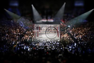 Bild Leerer Boxring mit Zuschauern umgeben. 3D Abbildung
