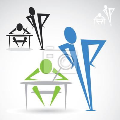Lehrer und Schüler icon - Vektor-Illustration