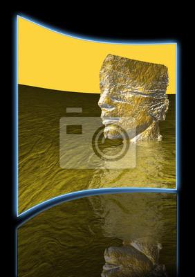 Leiter der Mann im Wasser