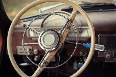 Bild Lenkung Retro-Auto