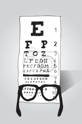 Lesebrillen Blick auf Augentest