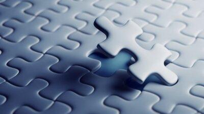 Letztes Stück eines Puzzles