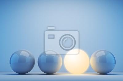 Bild Leuchtende Kugel. Innovation-Konzept. 3D-Darstellung