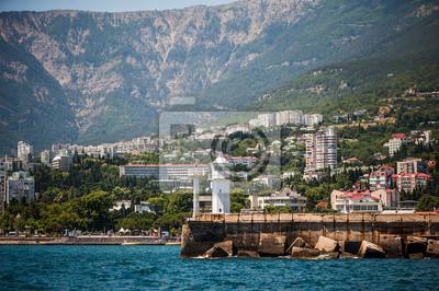 Leuchtturm am Ufer der Jalta, Krim