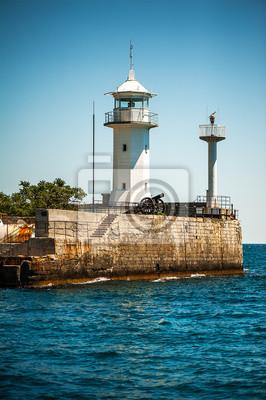 Leuchtturm an der Küste von Jalta