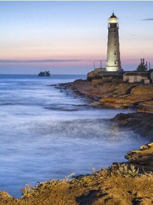 Bild Leuchtturm in der Dämmerung