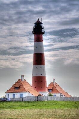Bild Leuchtturm Westerheversand in Westerhever