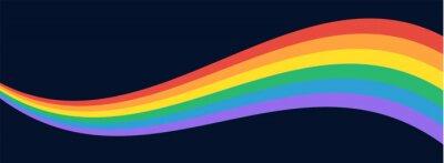Bild LGBT Pride Flag Wave Background. LGBTQ Gay Pride Rainbow Flag Illustration Isolated on Dark Background. Vector Banner Template for Pride Month