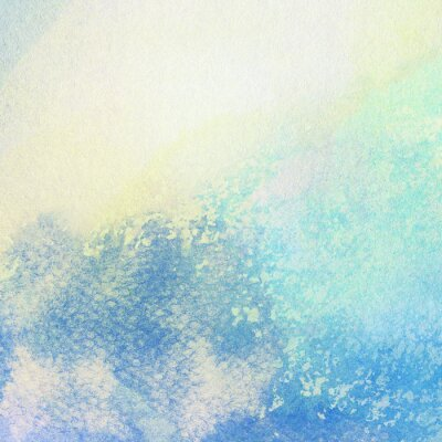 Bild Licht abstrakt blau gemalt Aquarell spritzt Hintergrund