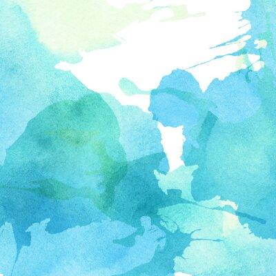 Bild Licht abstrakt blau, grün lackiert Aquarell spritzt Hintergrund