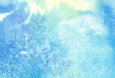 Bild Licht abstrakte blau gemalt Aquarell spritzt oder Wolke, Himmel