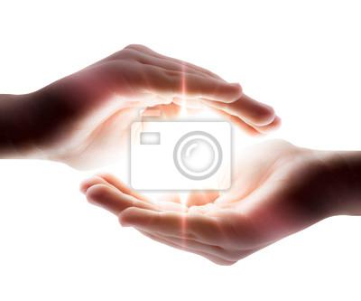 Licht in seinen Händen