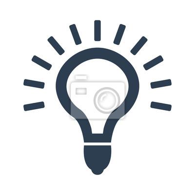 Licht-lampe-symbol vektor. leinwandbilder • bilder innovative ...