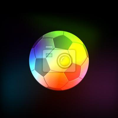 Licht Neon abstrakte Vektor-Ball Fußball, Fußball-Ball