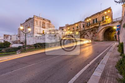 Bild Lichtspuren in der Stadt, Italien