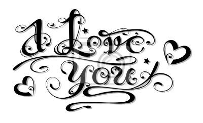 Liebe Liebe Logo Schriftzug Tattoo Herzen Leinwandbilder
