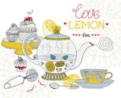 Bild Liebe Zitronentee-Karte