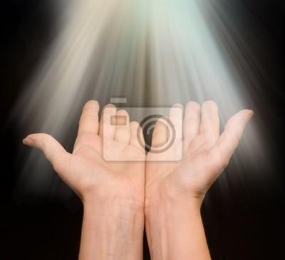 Bild LIGHT auf Händen