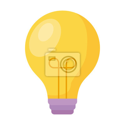 Bild light bulb isolated icon