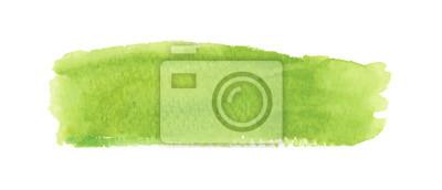 Bild Light green watercolor label. Vector illustration.