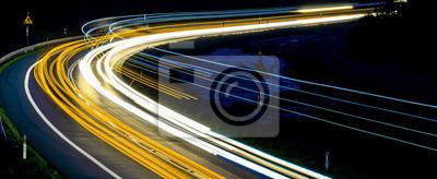 Bild lights of cars with night