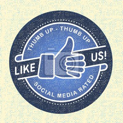 Like us Icon, Illustration icon soziale Netzwerke