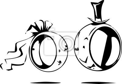 Line Art Hochzeit Ringe Design Leinwandbilder Bilder Linie Kunst