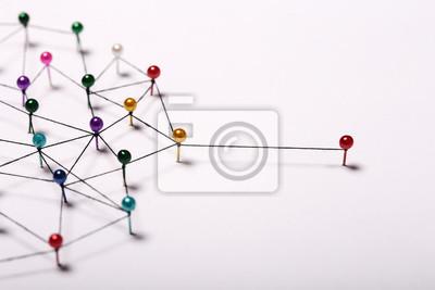 Bild Linking entities. Network, networking, social media, internet co
