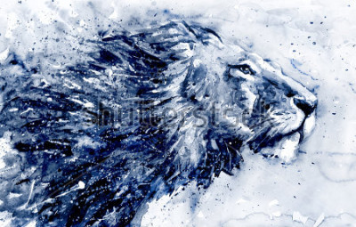Bild Lion 3 black&white