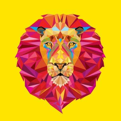 Bild Lion Kopf in geometrische Muster