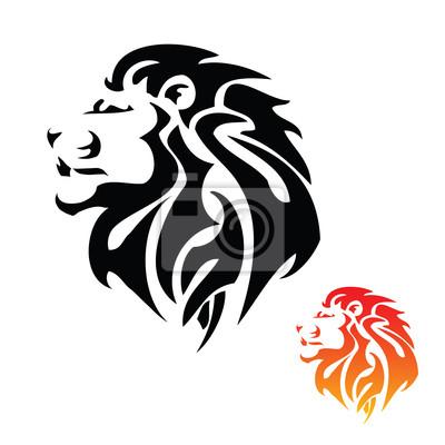 Lion Kopf Tribal Tattoo