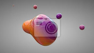 Bild Liquid shape 3D rendering illustration