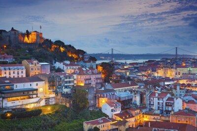 Bild Lissabon. Bild von Lissabon, Portugal während der Dämmerung blaue Stunde.