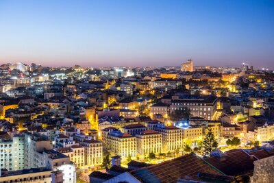 Bild Lissabon in der Dämmerung