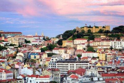 Bild Lissabon, Portugal, Blick auf die Alfama-Viertel und St. Jorge Castl