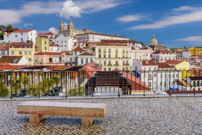 Bild Lissabon Stadtbild - traditionelle Architektur, Alfama Bezirk, Lissabon, Portugal.