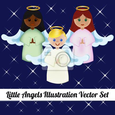 Little Angels Illustration Vector Set