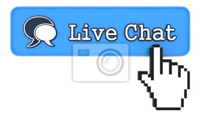 Live Chat Button mit Hand förmigen Mauszeiger