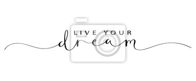 Bild LIVE YOUR DREAM brush calligraphy banner