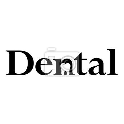 Logotipo Dental Con Muela En Espacio Negativo Negro En Fondo